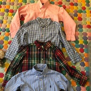 4 Ralph Lauren size 4 boys l/s button down shirts